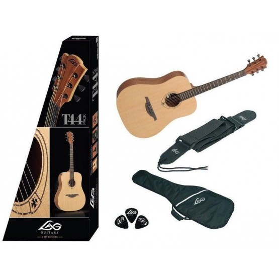 LAG T44D PACK GUITARRA ACUSTICA DREADNOUGHT