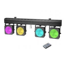 CAMEO CLMPARCOB1 SET DE PROYECTORES LED RGB COB 4 X 30 W CON ESTUCHE DE TRANSPORTE
