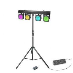 CAMEO CLMPARCOB1SET2 SET DE PROYECTORES LED RGB COB 4 X 30 W CON ESTUCHE, PEDAL Y SOPORTE