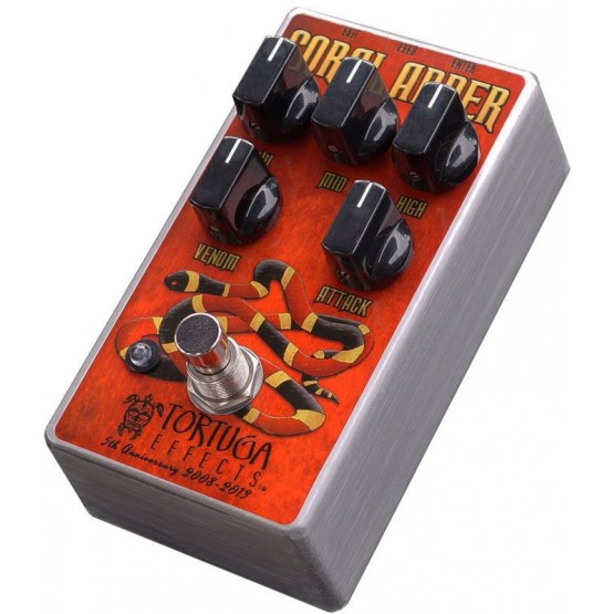 TORTUGA EFFECTS CORAL ADDER PEDAL BRITISH DISTORTION