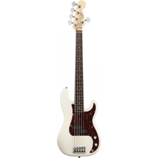 FENDER AMERICAN STANDARD PRECISION BASS V RW BAJO ELECTRICO OLYMPIC WHITE