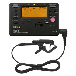 KORG TM50C AFINADOR/METRONOMO NEGRO + MICROFONO DE CONTACTO