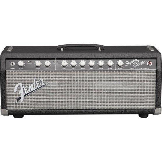 FENDER SUPERSONIC 22 HEAD AMPLIFICADOR CABEZAL BLACK/SILVER