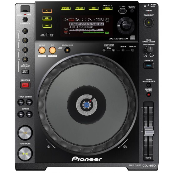 PIONEER CDJ850 K REPRODUCTOR CD DJ  NEGRO
