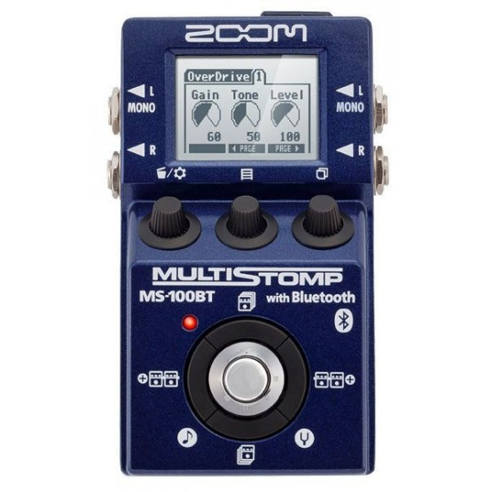 ZOOM MS100BT PEDAL MULTIEFECTOS GUITARRA