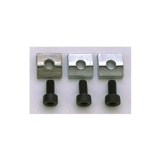 ALL PARTS BP0116010 NUT BLOCKS (3) FLOYD ROSE OR SCHALLER LOCKING NUTS CHROME