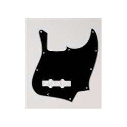ALL PARTS PG0755033 PICK GUARD FOR J BASS, BLACK 3-PLY (B/W/B)
