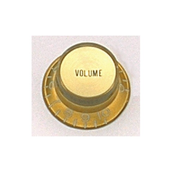 ALL PARTS PK0184032 REFLECTOR CAP VOLUME KNOBS (2) GOLD, FITS USA SPLIT SHAFT POTS