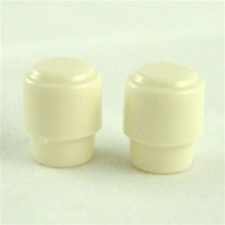 ALL PARTS SK0714025 ROUND SWITCH KNOBS (2 PIECES) FOR TELE FITS USA SWITCH, WHITE