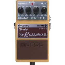 BOSS FBM1 PEDAL FENDER 59 BASSMAN. OUTLET. DEMO