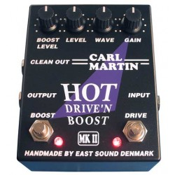 CARL MARTIN HOT DRIVE'N BOOST MKII PEDAL DISTORSION. OUTLET. DEMO