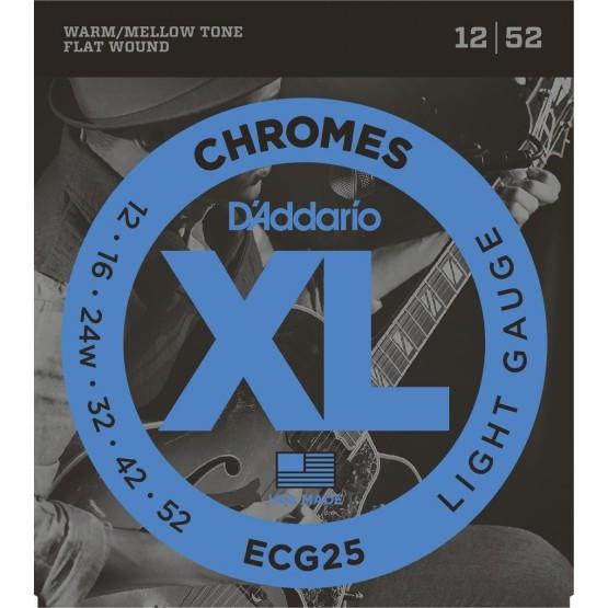 D'ADDARIO ECG25 JUEGO CUERDAS GUITARRA ELECTRICA 012-052
