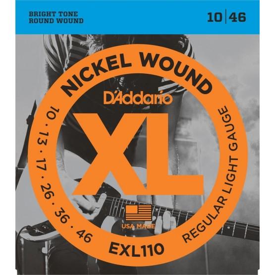 D'ADDARIO EXL110 JUEGO CUERDAS GUITARRA ELECTRICA 010-046