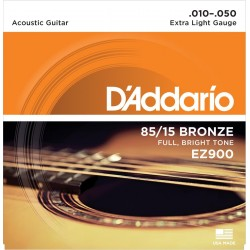D'ADDARIO EZ900 JUEGO CUERDAS GUITARRA ACUSTICA 010-050