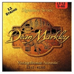 DEAN MARKLEY 2202 VINTAGE JUEGO 12 CUERDAS GUITARRA ACUSTICA 009024 009046