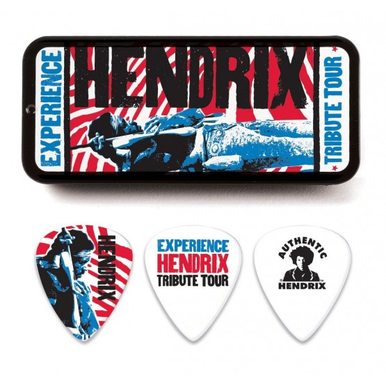 DUNLOP JHPT09M ESTUCHE METALICO 12 PUAS MEDIUM JIMI HENDRIX TRIBUTE TOUR