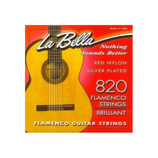 LA BELLA 822 CUERDA 2ª GUITARRA FLAMENCA ROJO