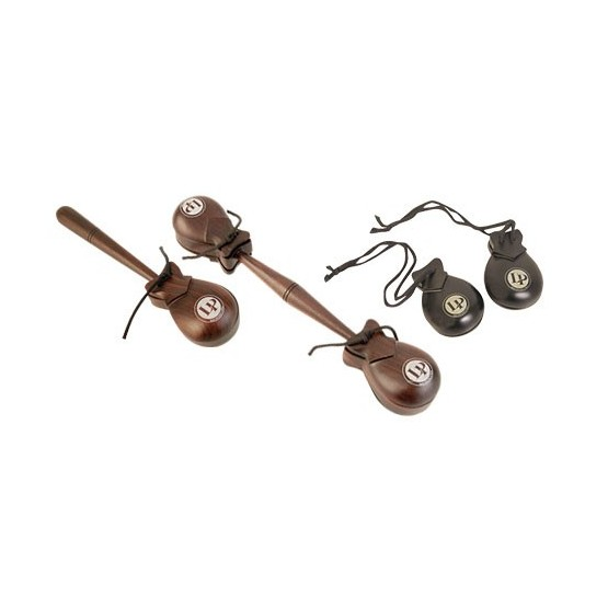 LATIN PERCUSSION LP432 PROFESSIONAL CASTANETS HAND HELD 2 PAR