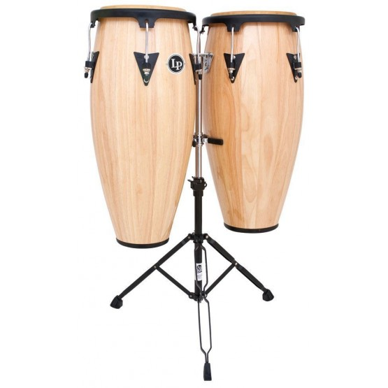 "LATIN PERCUSSION LPA646AW 10"" & 11"" CONGA SET NATURAL"