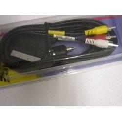 MONACOR 50631 CABLE EUROCONECTOR/ 3 RCA + ADAPTADOR. OUTLET