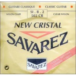 SAVAREZ 502 CR 2ª CUERDA NEW CRISTAL ROJA GUITARRA ESPAÑOLA