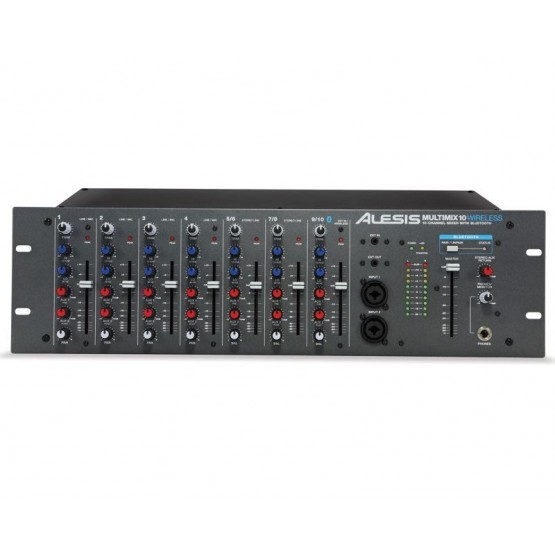 ALESIS MULTIMIX 10 WIRELESS MEZCLADOR DE 10 CANALES EN RACK CON BLUETOOTH