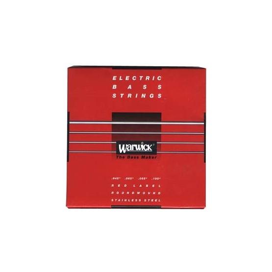 WARWICK 42200 RED JUEGO 4 CUERDAS BAJO 045 105