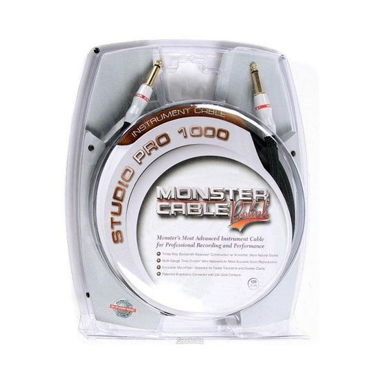 MONSTER SP1000I21 STUDIO PRO 1000 CABLE INSTRUMENTO 6,4 METROS