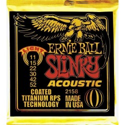 ERNIE BALL 2158 EXTRA LIGHT TITANIUM COATED JUEGO CUERDAS GUITARRA ACUSTICA 011-052. OUTLET