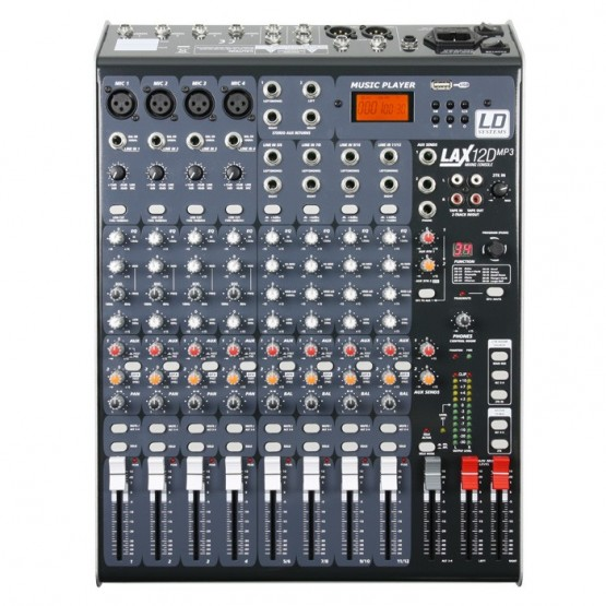 LD SYSTEMS LAX12DUSB MESA DE MEZCLAS 12 CANALES CON DSP Y REPRODUCTOR MP3 USB. OUTLET