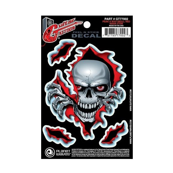 PLANET WAVES GT77002 GUITAR TATOO PEAK A BOO SKULL (SET 5 PEGATINAS)