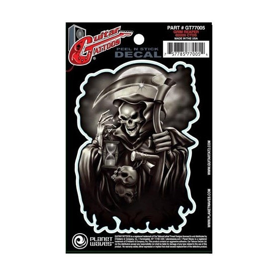 PLANET WAVES GT77005 GUITAR TATOO GRIM REAPER (SET 5 PEGATINAS)