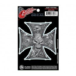 PLANET WAVES GT77007 GUITAR TATOO GREY IRON CROSS (SET 5 PEGATINAS). OUTLET