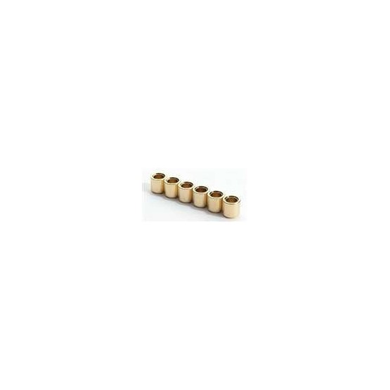 ALL PARTS AP0187002 STRING FERRULES (6 PIECES) FOR GUITAR, GOLD, NO LIP, 3/8