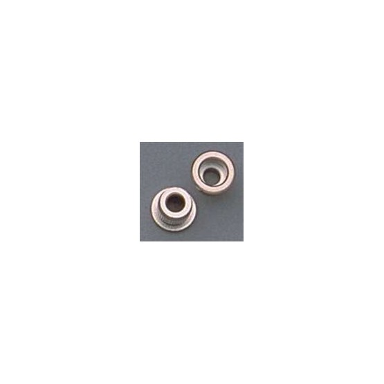 ALL PARTS AP0287001 STRING FERRULES FOR BASS, NICKEL, 3/8