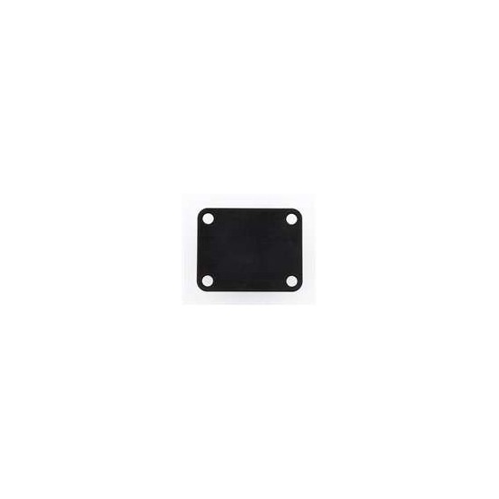 ALL PARTS AP0600003 NECK PLATE, STEEL, 4 HOLE, FOR GUITAR OR BASS, BLACK