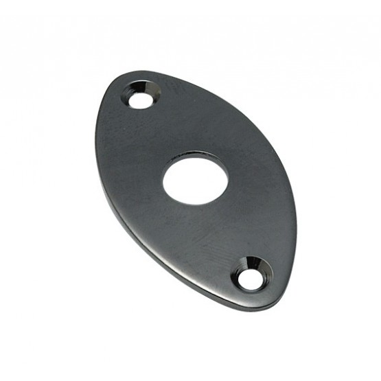 ALL PARTS AP0615003 JACKPLATE FOR EDGE MOUNT - FOOTBALL SHAPED CURVED BLACK