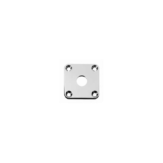 ALL PARTS AP0633001 JACKPLATE FOR LES PAUL CURVED, NICKEL, WITH MOUNTING SCREWS