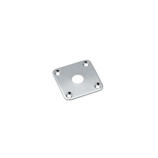 ALL PARTS AP0633010 JACKPLATE FOR LES PAUL CURVED, CHROME, WITH MOUNTING SCREWS