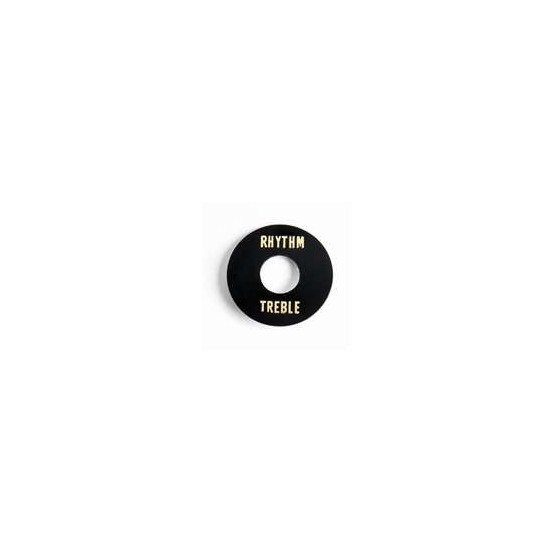 ALL PARTS AP0663023 RHYTHM/TREBLE RING FOR TOGGLE SWITCH, BLACK PLASTIC