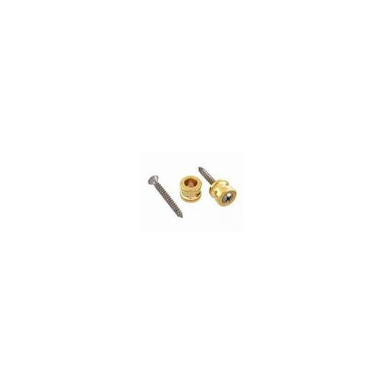 ALL PARTS AP0682002 BUTTONS ONLY FOR SCHALLER STRAP LOCK SYSTEM, WITH SCREWS (2), GOLD