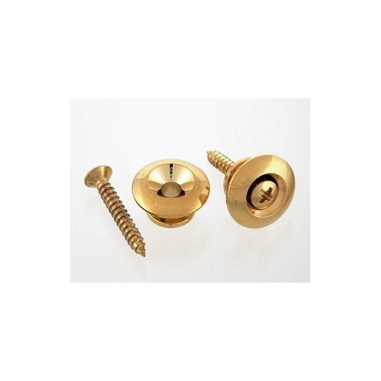 ALL PARTS AP0684002 OVERSIZED STRAP BUTTONS, WITH SCREWS, GOLD. UNIDAD