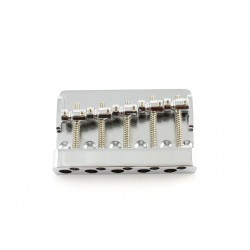 ALL PARTS BB3440010 ECONOMY HEAVY-DUTY 5-STRING BASS BRIDGE, CHROME, 2-13/16 STRING SPACING