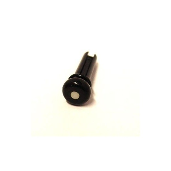 ALL PARTS BP0677023 BLACK PLASTIC END PINS FOR ACOUSTIC BASS, WITH GROOVE, 4 PIECES