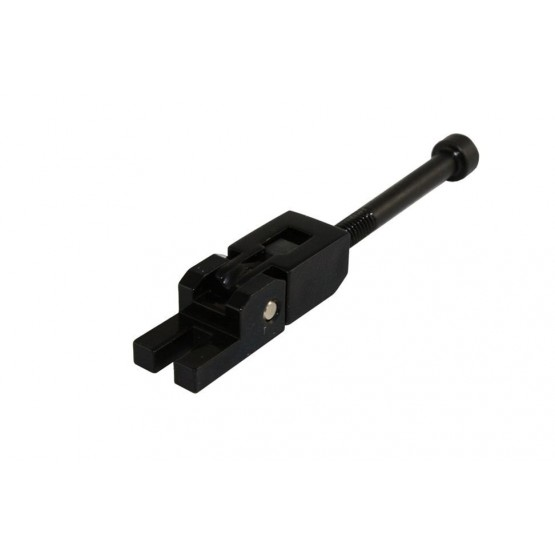 ALL PARTS BP0691003 LOW SADDLE FOR LOCKING TREMOLO, BLACK, WITH SCREW AND BLOCK, FOR E STRINGS