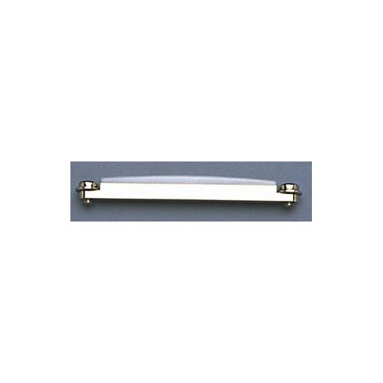 ALL PARTS BP0858010 HEIGHT ADJUSTABLE BRIDGE INSERT FOR ACOUSTIC GUITAR, CHROME, WITH SADDLE, 3-5/16