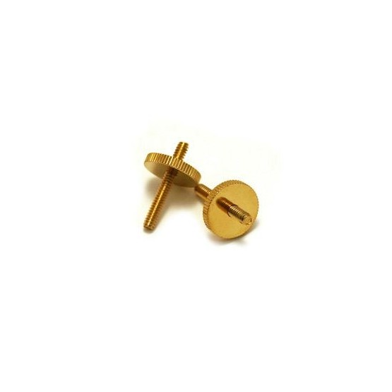 ALL PARTS BP2394002 STUDS AND WHEELS SET FOR OLD STYLE TUNEMATIC BRIDGE, STUD 6-32 X 1-1/16 GOLD