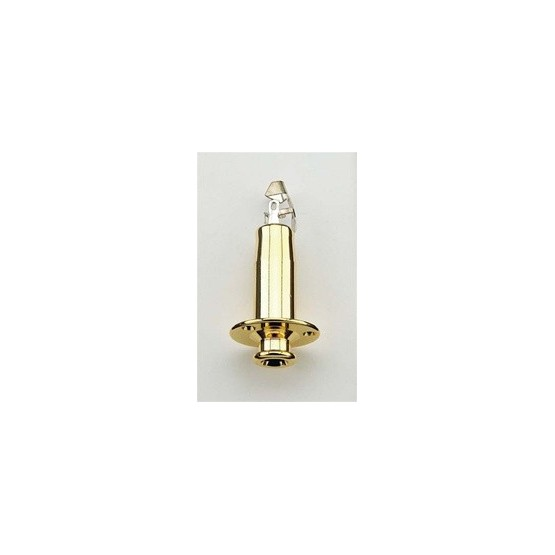 ALL PARTS EP4605002 1/4 END PIN JACK, STEREO, WITH 3 EXTERIOR SCREW HOLES, GOLD