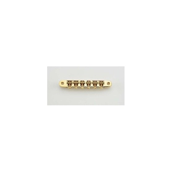 ALL PARTS GB0520002 OLD STYLE TUNEMATIC BRIDGE GOLD WITH HARDWARE