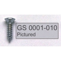 ALL PARTS GS0001005 PICK GUARD SCREWS PHILLIPS HEAD, STAINLESS STEEL, 4 X 1/2
